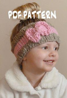 KNITTING PATTERN The Bo Peep Headband Toddler Knit Ear Warmer