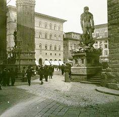 Firenze Piazza della Signoria 1908