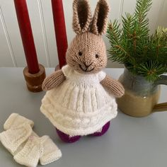 My favorite bunny dress of ✨✨2016✨✨...❄Snowy Cables Dress❄...info on my Ravelry page...link in profile