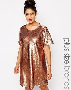 Enlarge Truly You Sequin Tshirt Dress, $104.23 // sadly sold out in  my size. I was all ready to make this my New Years Eve dress.