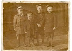 Little boys Soviet Union Russia 1954 intersting clothes street fashion coats hats old snapshot ORIGINAL vintage photo by PhotoMemoriesLane on Etsy