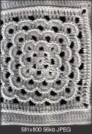 Yarn Clouds Square pattern by Amelia Beebe Crochet Square Blanket, Crochet Squares Afghan, Crochet Blocks, Granny Square Crochet Pattern, Crochet Granny, Crochet Motif, Crochet Yarn, Crochet Stitches, Crochet Patterns