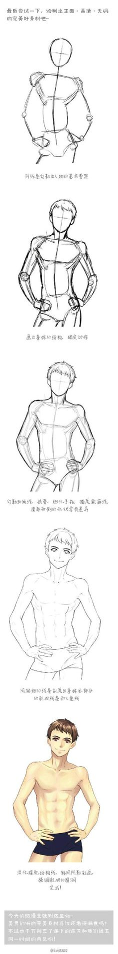 #SAI资源库#动漫美男子,身体结构、肌...