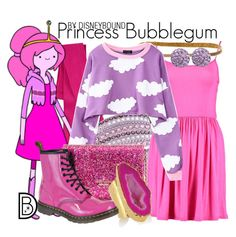 """""""Princess Bubblegum"""" by leslieakay ❤ liked on Polyvore featuring Swarovski, Sparkly Soul, Kate Spade, American Coin Treasures, Dr. Martens, Bling Jewelry and Halloween"""
