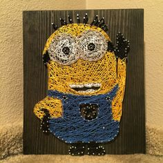 MADE TO ORDER Minion String Art by StringsbySamantha on Etsy