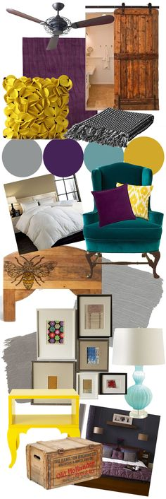 Moodboards for room decorating