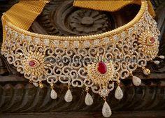 Jewellery Designs: Chic Bridal Choker with Diamonds