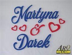 Pracownia Dekoracji ARQ - DECOR - Imiona Nowożeńców, Pary Młodej (NA ZAMÓWIENIE) nr 40 Dekoracje Ślubne