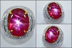 Elegant Hot Pigeon Blood RUBY Star. Mogok Burma - RBS 293