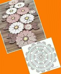 Crochet flowers , Crochet flowers , Free crochet patterns, design and creation of embellishments and decoration for the body. Crochet Pot Holders … 2 Free Crochet Potholder Patterns (also make great nonstick pan protectors! Crochet Potholder Patterns, Crochet Doily Patterns, Crochet Diagram, Crochet Chart, Crochet Squares, Diy Crochet, Crochet Flowers, Crochet Stitches, Crochet Doilies