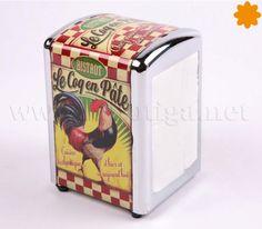 Este dispensador de servilletas vintage es perfecto para la decoración de establecimientos de hostelería.