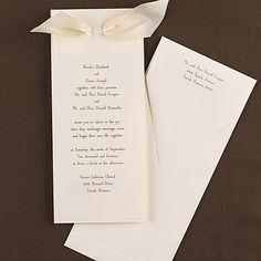 Recherche - Ecru - Invitation weddingneeds.carlsoncraft.com