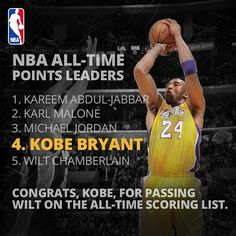 NBA All-Time Points Leaders - Kobe