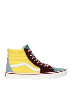 Canvas Suede effect Logo Multicolor pattern Laces Round toeline Flat Fabric inner Rubber sole Contains non-textile parts of animal origin Vans Sneakers, High Top Sneakers, Vans Style, Vans Shop, Soft Leather, High Tops, Footwear, Flats, Animal