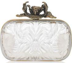 Alexander McQueen Iris Plexiglas Box Clutch