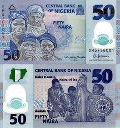 Nigeria 50 Naira 2016 Central Bank, Native Indian, African History, Really Cool Stuff, World, Barber, Logo, Seals, Money