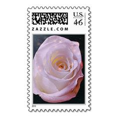 Rose On Canvas Stamp