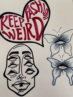 Art Journal Inspiration, Art Inspo, Arte Hippy, Arte Peculiar, Hippie Painting, Trash Art, Indie Art, Funky Art, Art Drawings Sketches Simple
