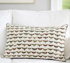 $35.50FS Shadow Box Butterfly Print Lumbar Pillow Cover #potterybarn