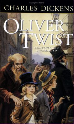 """Oliver Twist • CHARLES DICKENS ——— """"Please sir, can I have some more."""" Have no idea if that's actually in the book, but I'm willing to find out.  And of course the Artful Dodger!"""