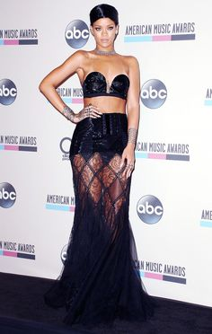 Rihanna in Jean Paul Gaultier at the 2013 American Music Awards