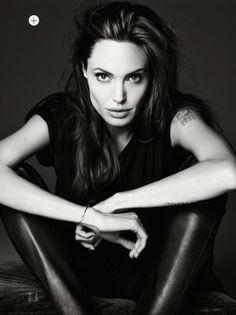 Angelina Jolie Elle Photoshoot 2014