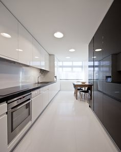 white sleek kitchen