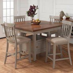 Jofran Pottersville 5-Piece Counter Height Storage Dining Table Set