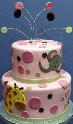 Baby Animals Tiered  i think this would be so cool for her baby shower!!