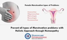Now a days menstruation problems are very common in women. It is caused due to PCOD, fibroids, hormone imbalances, thyroid, menopause and more. It can be treated through health services of homeopathy at Homeocare International. Homeopathic remedies cure your menstruation problems completely by healing your reproductive system. Approach Homeocare International and free from PCOD and other uterus problems with zero side effects.