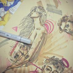 #illustration #art #sketch #pen #marker #girls