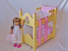 Doll Bunk Bed fits American Girl Doll and 18 by Keatingwoodcraft