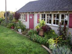 A chicken coop becomes a garden retreat.