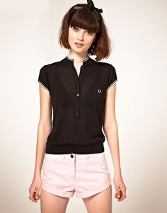 Enlarge Fred Perry By Amy Winehouse Silk Mix Top