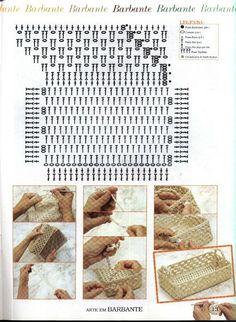Crochet Basket Pattern, Crochet Tote, Knit Crochet, Crochet Baskets, Z Photo, Needlework, Knitting, Blog, Youtube