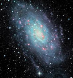 Magnificent intermediate spiral galaxy NGC 2403 stands within the boundaries of the long-necked constellation Camelopardalis, some 10 million light-years distant and about 50,000 light-years across. - Image Credit: Jean-Charles Cuillandre, CFHT