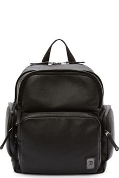 McQ Alexander McQueen: Black & White Overpaint Backpack | SSENSE