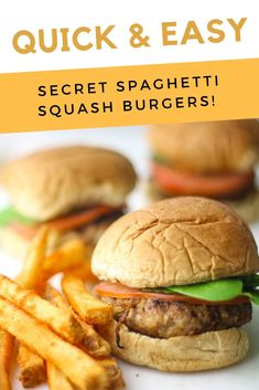 Sneaking vegetables into dinner time has never been so easy. See how to sneak spaghetti squash into burger night for delicious flavor. How To Cook Burgers, Beef Burgers, Quick Dinner Recipes, Quick Easy Meals, Real Food Recipes, Healthy Recipes, Meatless Recipes, Healthy Dinners, Yummy Recipes