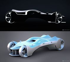 Daniel Simon's design for a Chevrolet / GM concept displayed at Disney Shanghai Tron Attraction Post-Show, dubbed Qing Yi