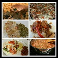 Recent dishes  Turkey chili  Chipotle Chicken tacos  Chicken gravy  Stuffed manicotti noodles  Stir fry