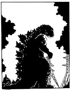 The final version of Godzilla 1954 for Movie-Man. Godzilla 1954 for ~Movie-Man (Finished) King Kong Vs Godzilla, Godzilla 2, Godzilla Costume, Godzilla Party, Godzilla Birthday, Black And White Posters, Black N White Images, Godzilla Wallpaper, Hype Wallpaper