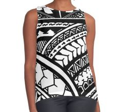 Traditional Hawaiian hand drawn tribal tank top  hawaii, 808, poly, polynesian, poly tribal, polynesian tribal, tribal tattoo, tattoo, tatu, tattoo artwork, traditional tattoo, oahu, waikiki, beach, salt life, all over print, hawaiian t shirt, hawaiian shirts, hawaiian polynesian shirts, tribal shirts