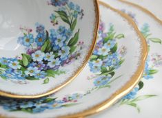 Artful Affirmations: Tea Cup Tuesday-Gorgeous! Forget me Not by Royal Standard