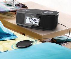 TimeShaker Micro – Wireless Bluetooth Dual Alarm Clock Speaker by iLuv