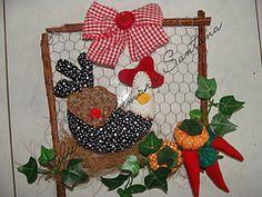 Quadro decorativo para cozinha by Atelier Lucimara Santana (Atelier Lucimara Santana) Tags: galinha patchwork cozinha penduricalho