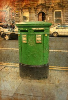 Postbox Dublin Post Box, Travel Around, Dublin, Travelling, Irish, Green, Home, Irish Language, Mailbox