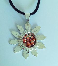 Eguzkilore: Flor vasca en plata y cobre diseño exclusivo Yadesilver
