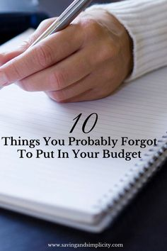 You can win with money if you have a budget! Here are 10 things you probably forgot to put in your budget. Include them and you will win with money.