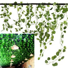 5 Types 2.1M 1PC Artificial Silk Fake Garden Hanging Plant Vine Wedding Decor