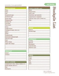 3 free printable meal planners - Medical Receptionist Resume